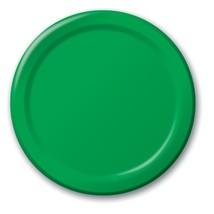 "Emerald Green 6.75"" Dessert Paper Plates 24 Per Pack heavy duty - $2.96"