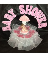 Girl Baby under umbrella and an Arch Shower Cake Top  Decoration Centerp... - $19.75