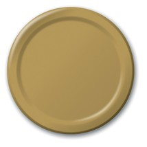 "Gold 9"" Luncheon Paper Plates 24 Per Pack heavy duty - $3.91"