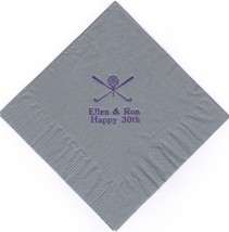 GOLF LOGO 50 Personalized printed LUNCHEON DINNER napkins - $11.87+