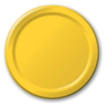 """Harvest Yellow 9"""" Luncheon Paper Plates 24 Per Pack heavy duty - $3.91"""