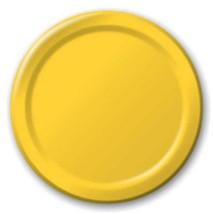 "Harvest Yellow 6.75"" Dessert Paper Plates 24 Per Pack heavy duty - $2.96"