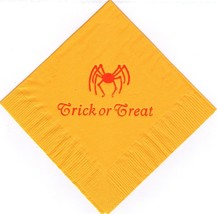 HALLOWEEN SPIDER LOGO 50 Personalized printed cocktail beverage napkins ... - $10.87+