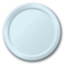 "Light blue 6.75"" Dessert Paper Plates 24 Per Pack heavy duty - $2.96"
