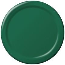"Hunter Green 6.75"" Dessert Paper Plates 24 Per Pack heavy duty - $2.96"