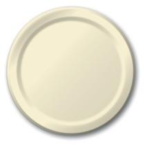 "Ivory 6.75"" Dessert Paper Plates 24 Per Pack heavy duty - $2.96"