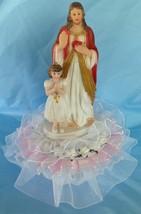 "Jesus and Praying Girl Cake Top Centerpiece 9.5"" Tall - $19.31"