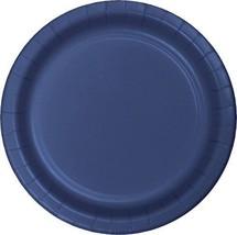 "Navy Blue 6.75"" Dessert Paper Plates 24 Per Pack heavy duty - $2.96"