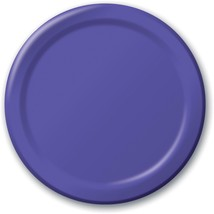 "Purple 6.75"" Dessert Paper Plates 24 Per Pack heavy duty - $2.96"