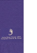 Sea Horse Logo 50 Personalized Printed Dinner Hand Towel Fold Napkins - $13.85+