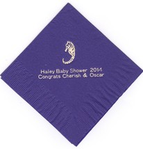 Sea Horse 50 Personalized Printed Luncheon Dinner Napkins - $11.87+