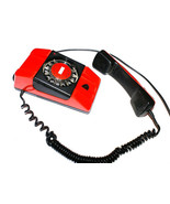 Rotary Red Telephone from Poland Retro Vintage '80s still works! - $35.00