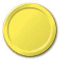 "Yellow 6.75"" Dessert Paper Plates 24 Per Pack heavy duty - $2.96"