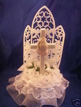 christening communion  cake top praying girl hands - $10.89