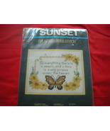 SUNSET COUNTED CROSS  STITCH KIT.   TO EVERYTHING THERE'S A SEASON.  NIP. - $12.99