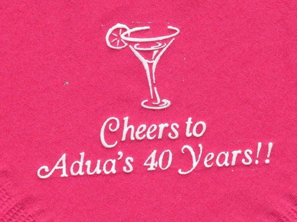 MARTINI GLASS LOGO 50 Personalized printed DINNER HAND TOWEL FOLD napkins