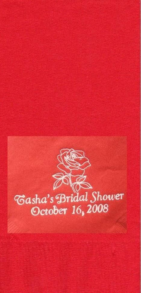 ROSE LOGO 50 Personalized printed DINNER HAND TOWEL FOLD napkins image 2
