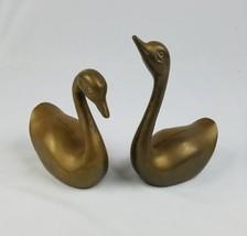 Vintage Latón Duck Swan Estatuilla de Estatuilla Pisapapeles Decoración ... - $49.88