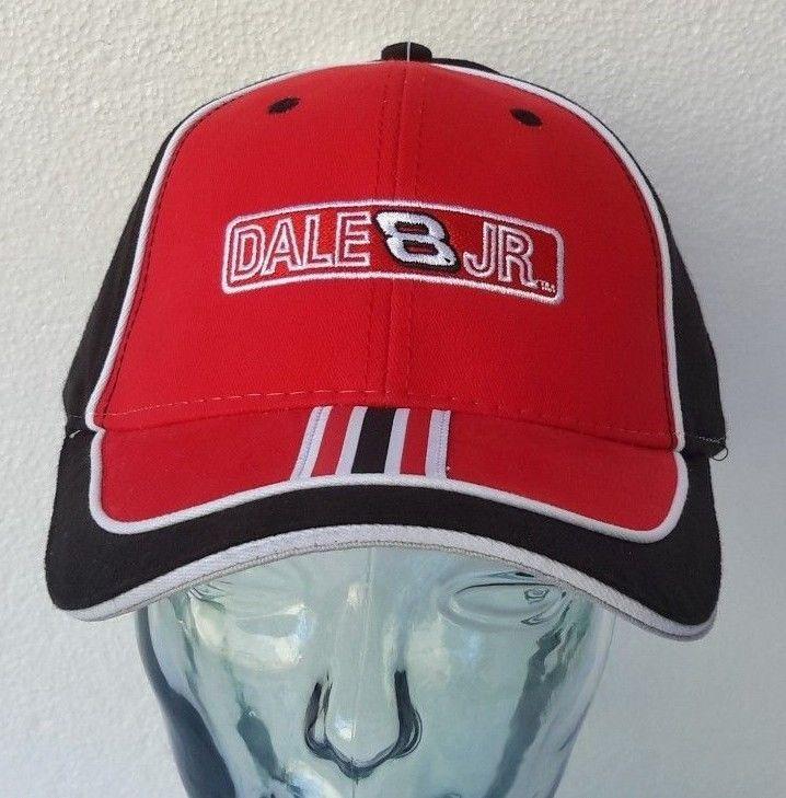 DALE EARNHARDT JR #8 NASCAR RACING BUDWEISER BLK HAT CAP FITTED OSFM CURV BRIM