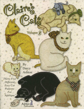 Claire's Cats Volume 2 Applique Quilt Pattern Book - $22.00
