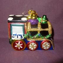 """Vintage Train Engine Glitter Ornament Christmas Tree  3"""" Multi Color Hol... - $16.89"""