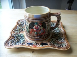 Vintage Sanyo Japan 6pc. Mini Beer Stein with Plates  - $65.00