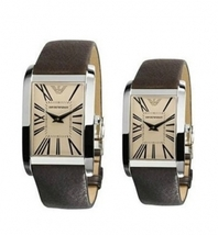 EMPORIO ARMANI AR2032 AND AR2033 - HIS AND HERS ARMANI WATCHES - $358.86