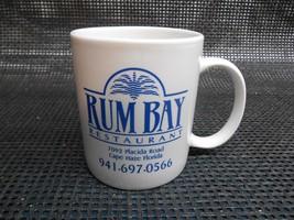 Old Vtg RUM BAY RESTAURANT COFFEE CUP Mug Advertising CAPE HAZE FLORIDA - $19.79