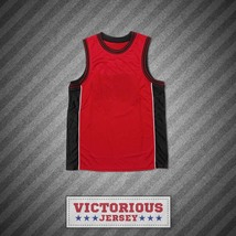 Plain Basketball Jersey Red-Black-White - $45.99