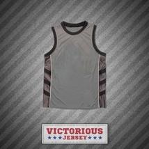 Plain Basketball Jersey Gray-Black-White - $45.99