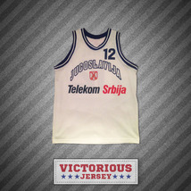 Vlade Divac 12 Yugoslavia Basketball Jersey Stitch Sewn Any Player or Number - $45.99