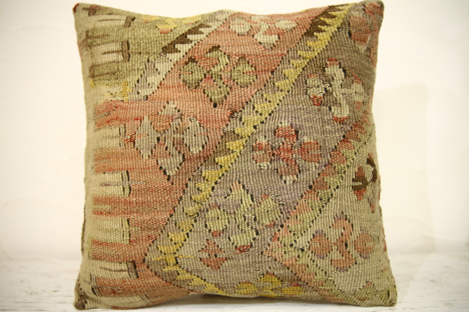 Kilim Pillows | 16x16 | Turkish pillows | 1385 | Accent Pillow,Decorative Pillow