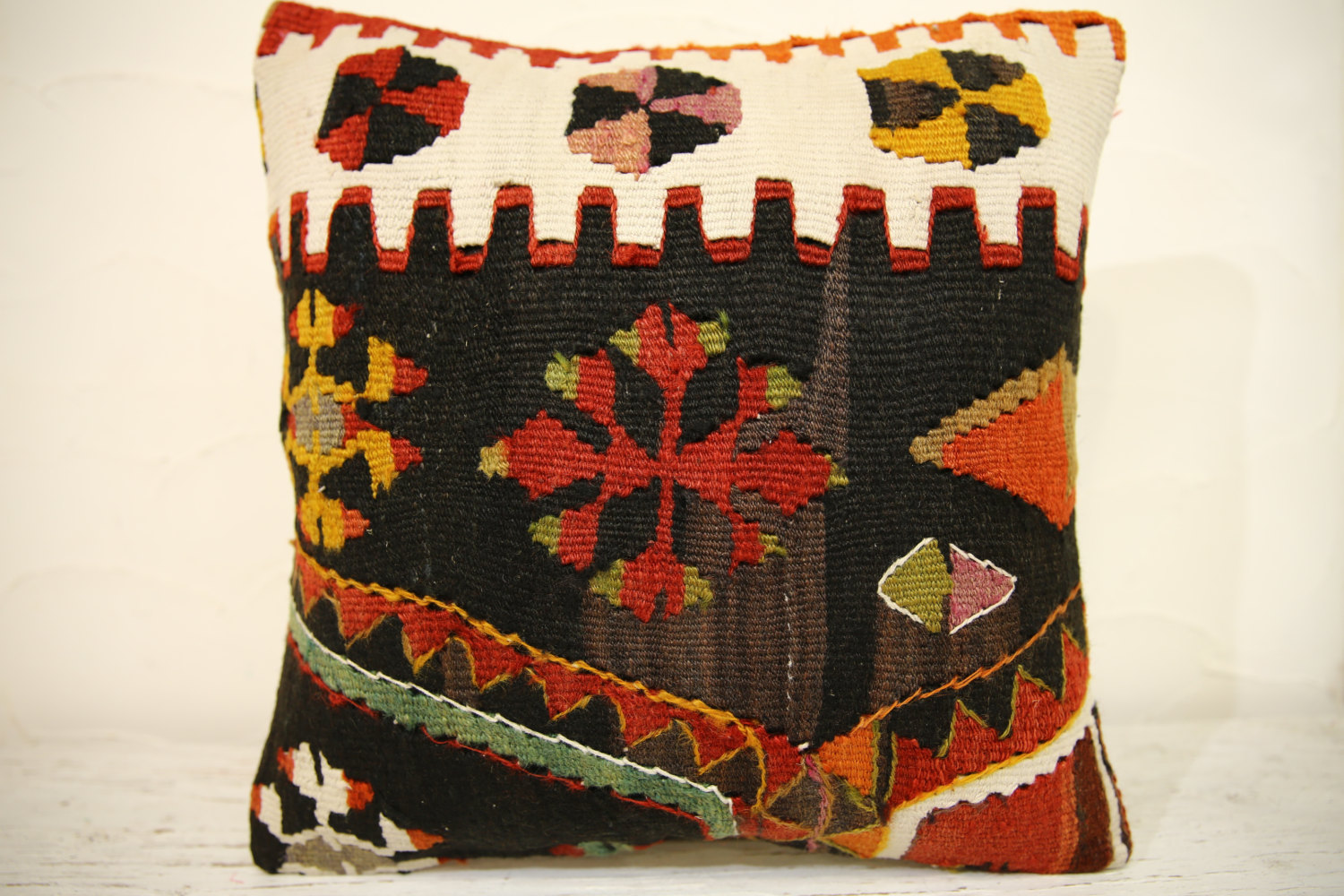 Kilim Pillows | 16x16 | Turkish pillows | 1379 | Accent Pillow,Decorative Pillow