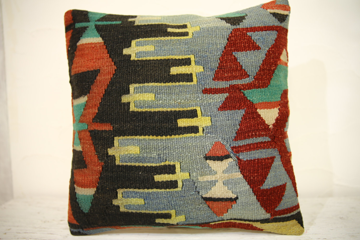 Kilim Pillows | 16x16 | Turkish pillows | 1372 | Accent Pillow,Decorative Pillow