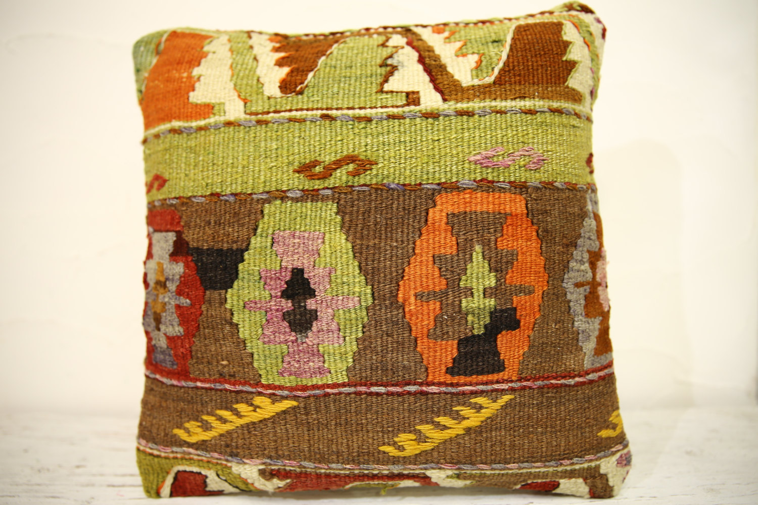 Kilim Pillows | 16x16 | Turkish pillows | 1368 | Accent Pillow,Decorative Pillow