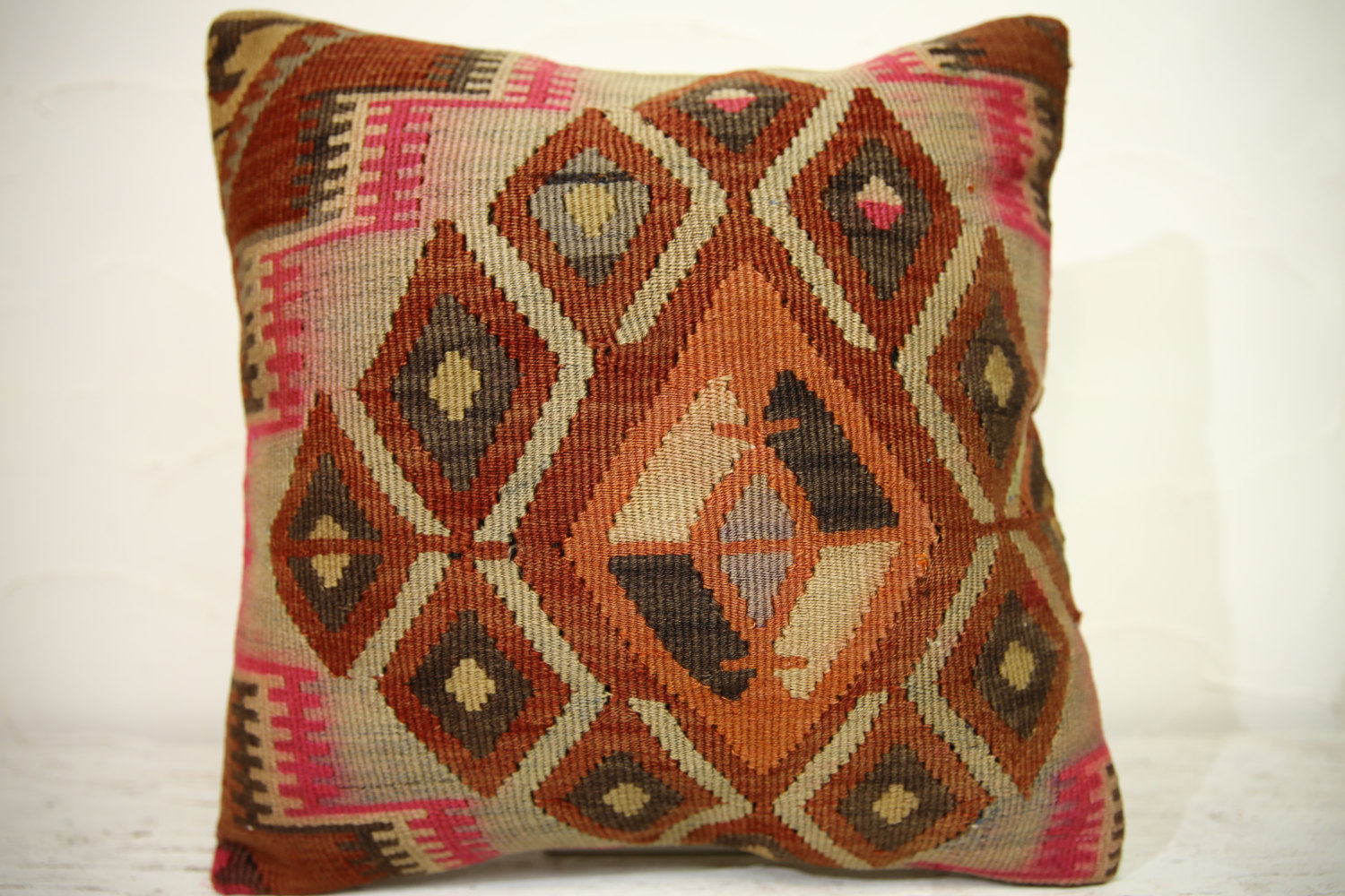 Kilim Pillows | 16x16 | Turkish pillows | 1261 | Accent Pillow,Decorative Pillow