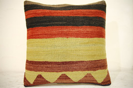 Kilim Pillows | 16x16 | Turkish pillows | 1366 | Accent Pillow,Decorativ... - $42.00