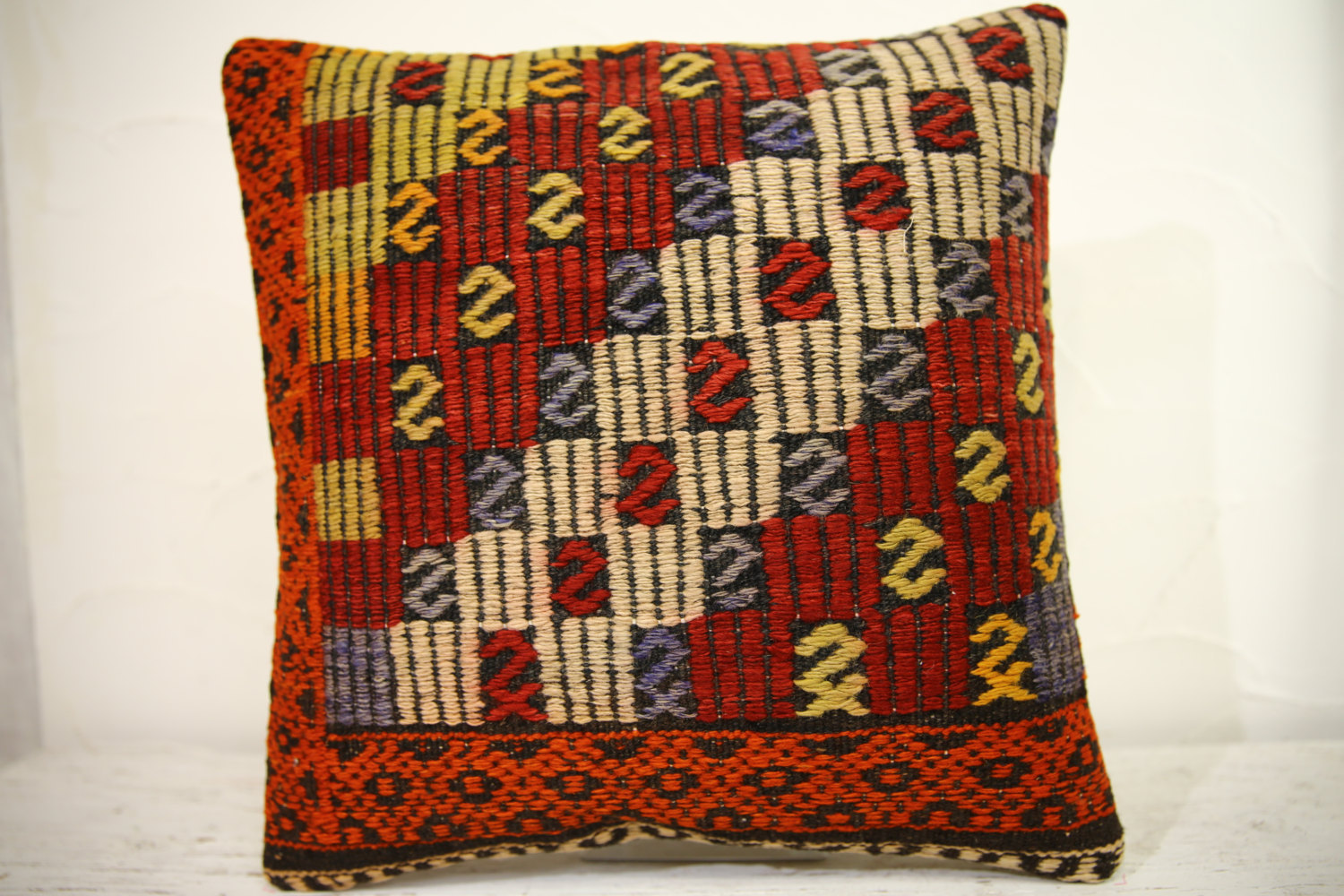 Kilim Pillows | 16x16 | Turkish pillows | 1247 | Accent Pillow,Decorative Pillow
