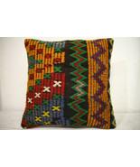 Kilim Pillows | 16x16 | Turkish pillows | 1242 | Accent Pillow,Decorativ... - $35.00