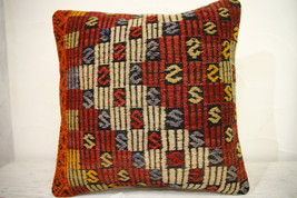 Kilim Pillows | 16x16 | Turkish pillows | 1245 | Accent Pillow,Decorativ... - $35.00