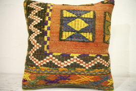 Kilim Pillows | 16x16 | Turkish pillows | 1251 | Accent Pillow,Decorativ... - $42.00