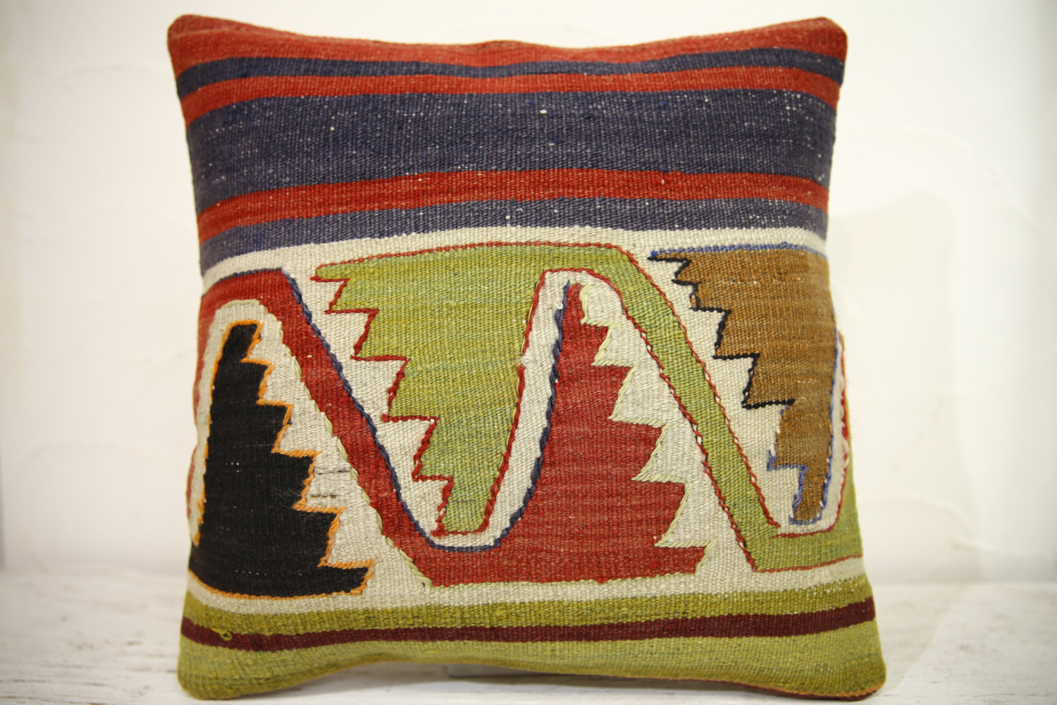 Kilim Pillows | 16x16 | Turkish pillows | 1240 | Accent Pillow,Decorative Pillow