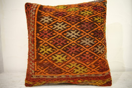 Kilim Pillows | 16x16 | Turkish pillows | 1238 | Accent Pillow,Decorativ... - $42.00