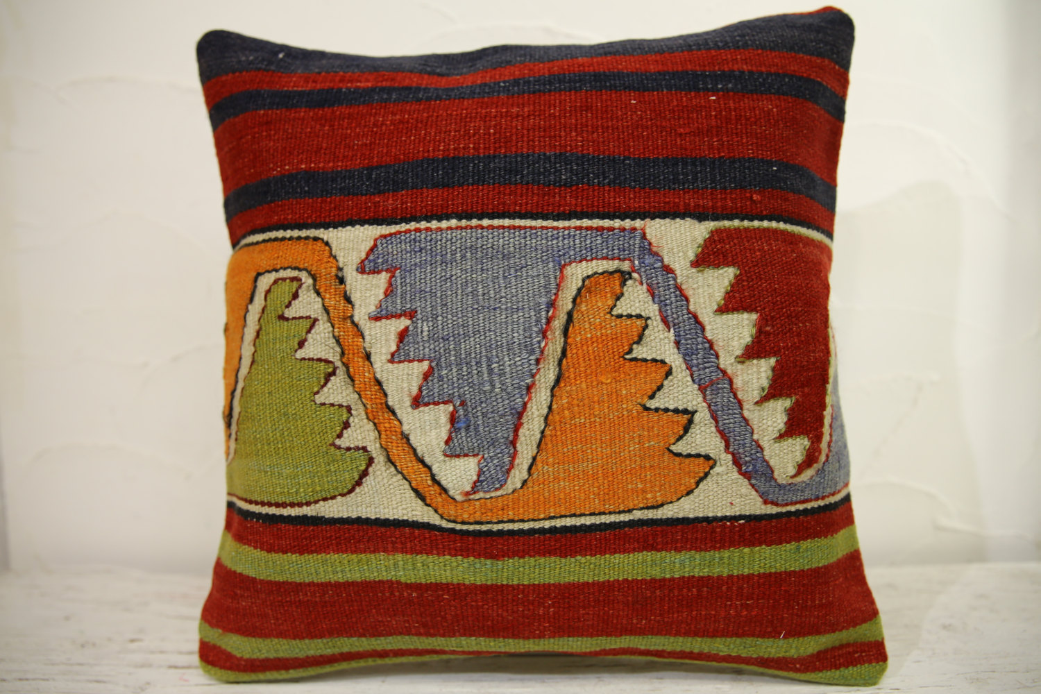 Kilim Pillows | 16x16 | Turkish pillows | 1243 | Accent Pillow,Decorative Pillow