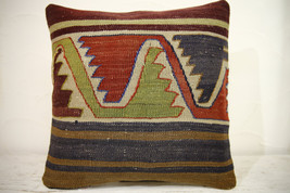 Kilim Pillows | 16x16 | Turkish pillows | 1241 | Accent Pillow,Decorativ... - $42.00