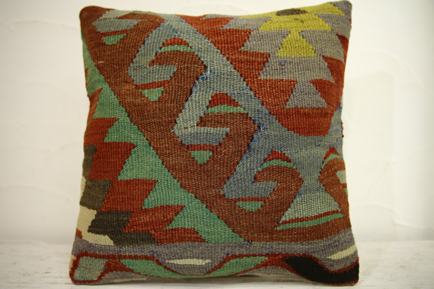 Kilim Pillows | 16x16 | Turkish pillows | 1199 | Accent Pillow,Decorative Pillow