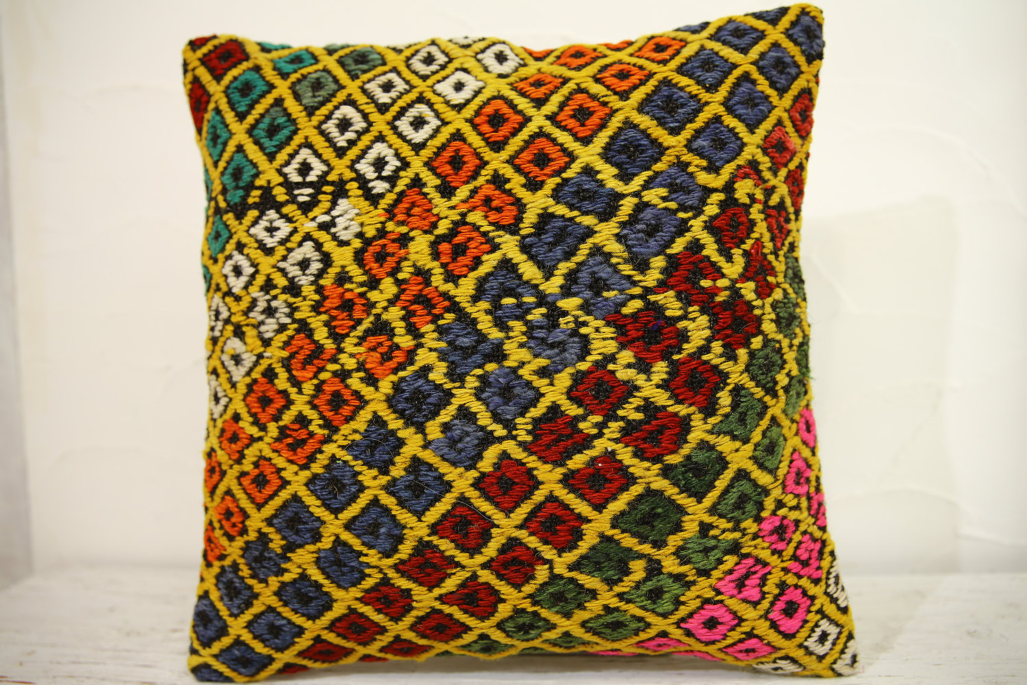 Kilim Pillows | 16x16 | Turkish pillows | 1157 | Ethnic Pillow , Kelim cushion