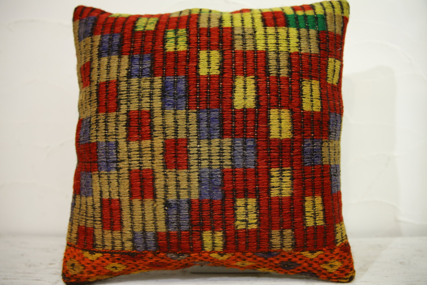 Kilim Pillows | 16x16 | Turkish pillows | 1158 | Ethnic Pillow , Kelim cushion