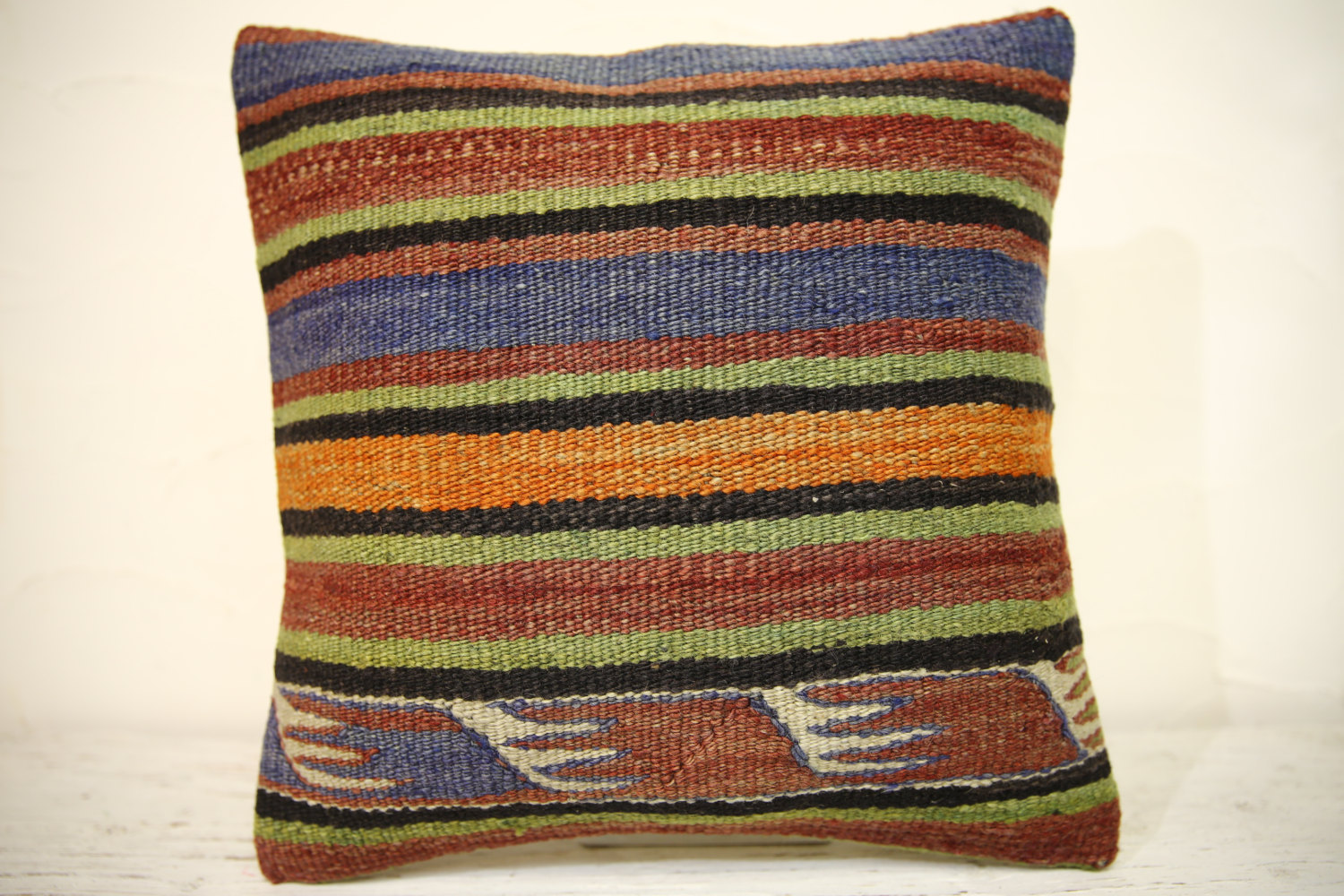 Kilim Pillows | 16x16 | Turkish pillows | 1360 | Accent Pillow,Decorative Pillow