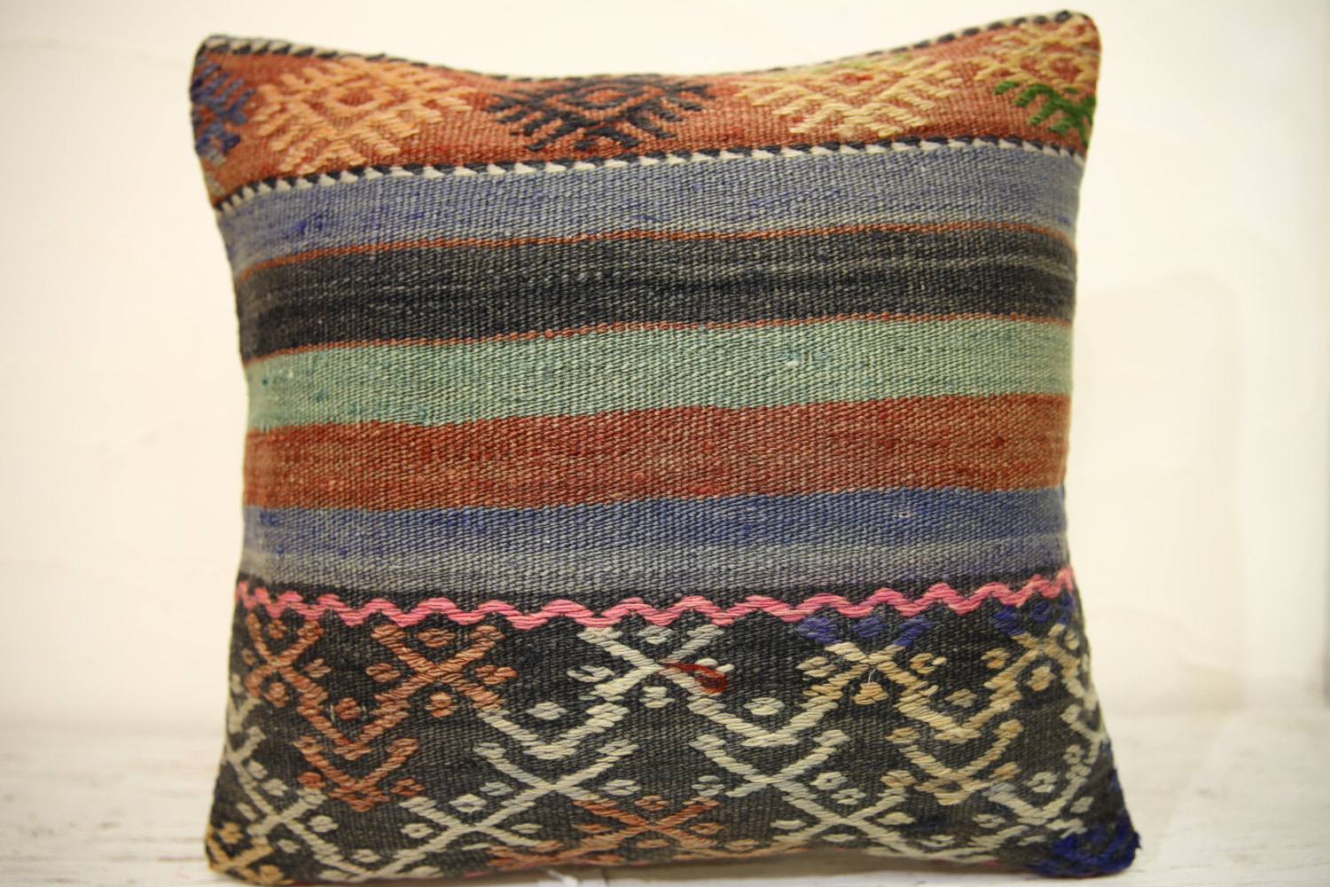 Kilim Pillows | 16x16 | Turkish pillows | 1352 | Accent Pillow,Decorative Pillow